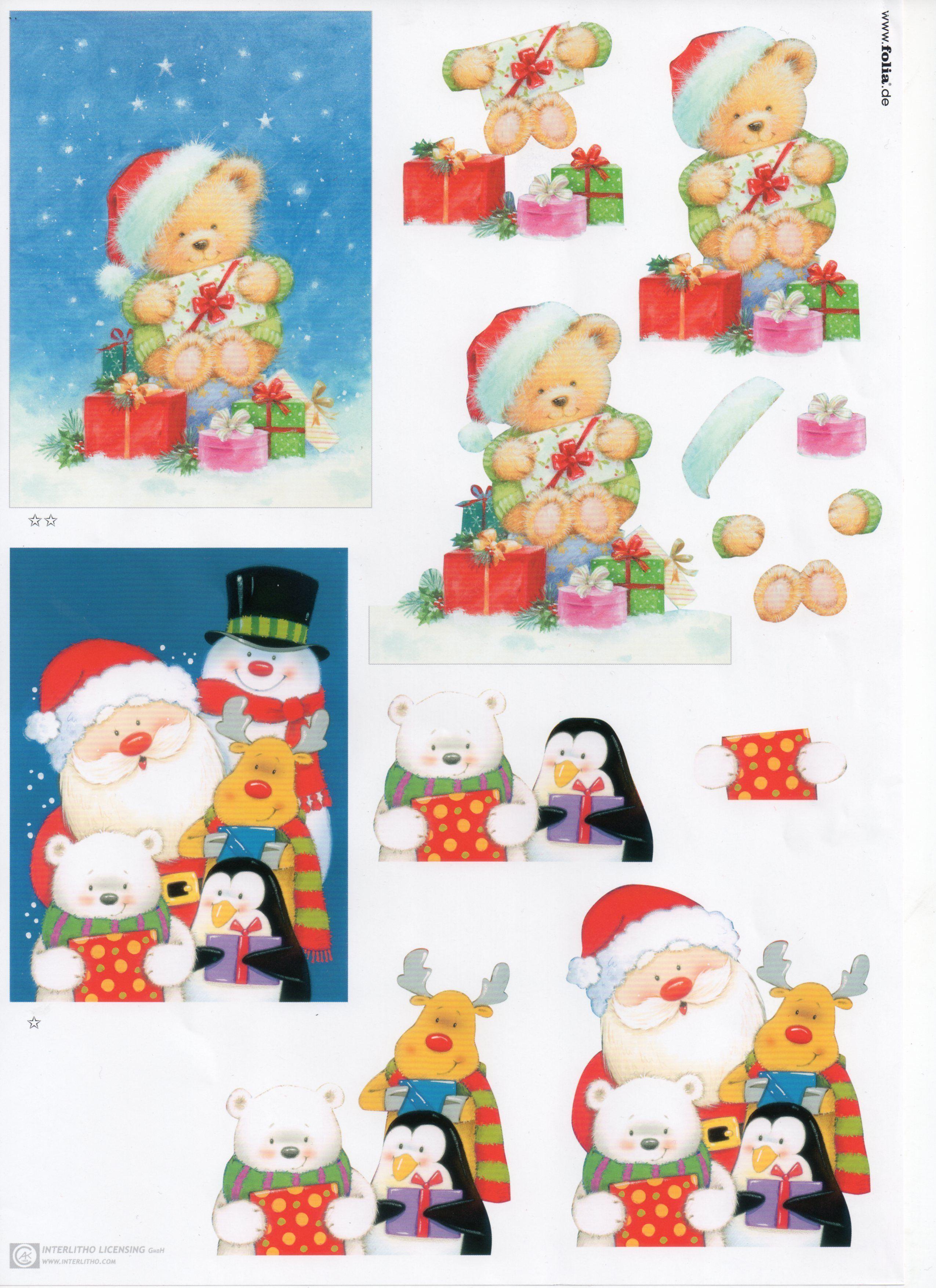 Carte De Noel 3d A Imprimer.Planche 3d Noel